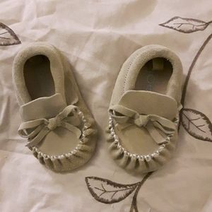 size 2 suede baby moccasins